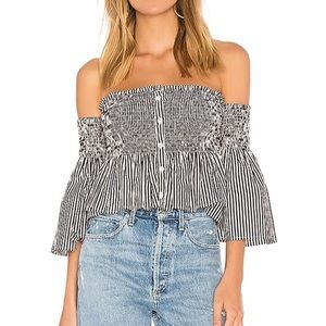 Faithfull the Brand Cooper Off the Shoulder Top